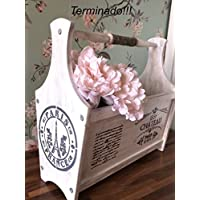 Portariviste Shabby Chic.Shabby Portariviste E Portagiornali Accessori Amazon It