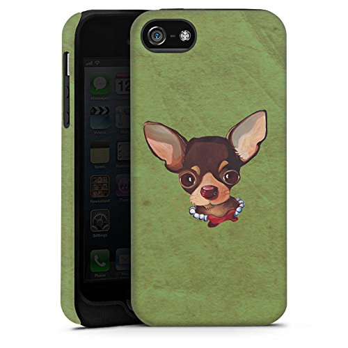 Apple iPhone X Silikon Hülle Case Schutzhülle Chihuahua Hund Dog Tough Case matt
