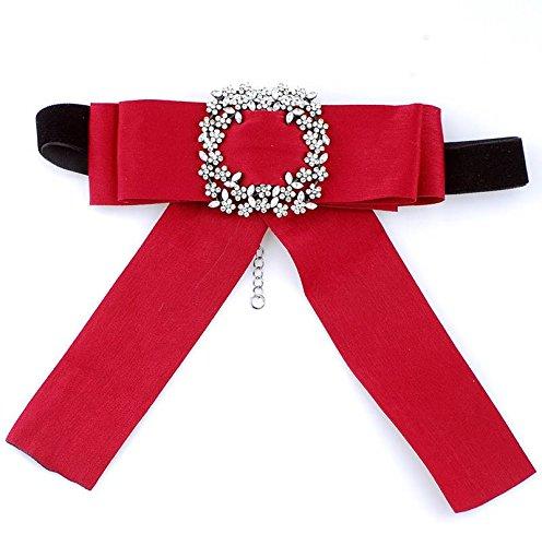 Thumby Fliege Kostüm Zubehör Diamant Bogen Dekorative Halskette Halskette Shirt Außerhalb Der Halsbänder, - Kostüm Diamant Halskette