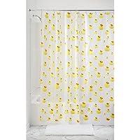 InterDesign Novelty EVA/PEVA Cortinas de baño de PEVA, cortinas impermeables para bañera y ducha, cortina de ducha de 183 x 183 cm, amarillo/naranja