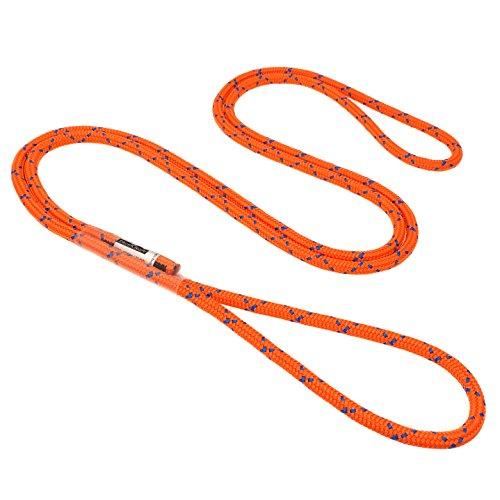 GM CLIMBING Prusik Schlaufe, vorgenäht, 8 mm, 45,7 cm / 61 cm, Fluorescent Orange-1.22 Meter