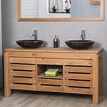 Meuble salle bain double vasque design - Meuble salle de bain amazon ...