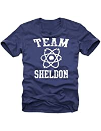 Coole-Fun-T-Shirts Herren T-shirt Team Sheldon - Big Bang Theory !  Vintage, N10748