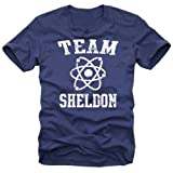 Coole-Fun-T-Shirts T-Shirt Team Sheldon - Big Bang Theory !  Vintage, navy_gelb, XL, N10748_Navy_gelb_GR.XL
