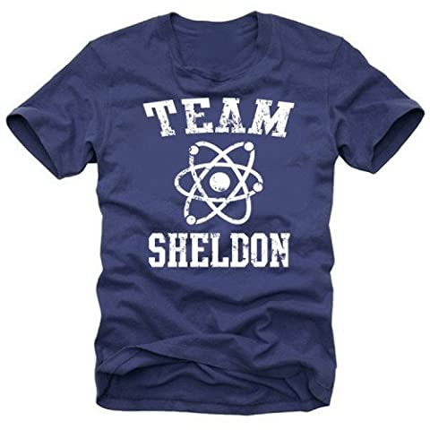 Coole-Fun-T-Shirts T-Shirt Team Sheldon - Big Bang Theory ! Vintage, navy_weiß, XXL, N10748_navy_weiss_GR.XXL