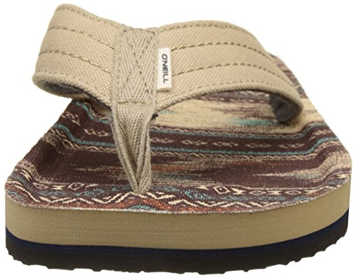 O'Neill Fm Chad Pattern, Tongs homme Braun (Brown Or Beige Allover Print W/ BLUE)
