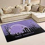 Bixungan Happy Halloween Area rug Rugs Non-Slip Indoor Outdoor Floor Mat Doormats for Home Decor Size:16 X 24(40x60cm) es
