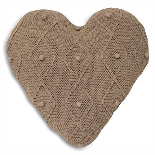 Argyll Knit Taupe Cushion Case - Knit Kleid Herz