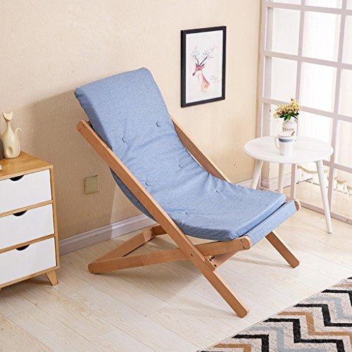 HWF Chaises pliantes Chaise pliante Chaise longue Chaise longue Bureau en bois massif Balcon extérieur Siesta Chaise Plage Style européen Casual (Couleur : C)