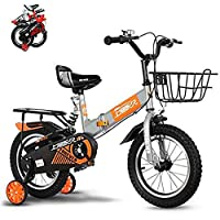 "SHARESUN Foldable Kids Bike,12"" 14"" Inch Lightweight Steel Frame Child Bicycle Inflatable Wheels,Age 2-6 Years old Boys and Girls Children pedal Bikes,The maximum load is about 100kg"