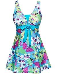Wantdo Womens One-Piece Swimsuit Oriental Porcelain Swimwear Beach Wear Swimdress