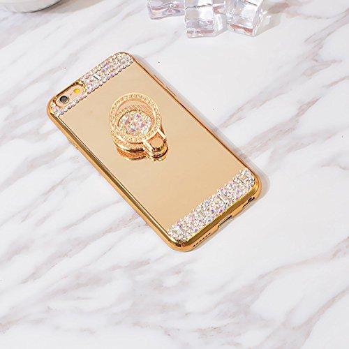 iPhone 5/5S/SE Coque, iPhone SE TPU Coque,iPhone 5S Double Faces Corps entier Silicone Housse,ETSUE Coque Silicone Gel Créativité Transparent 360 Degré Avant et arrière Ultra-mince Full Complet protég *Or