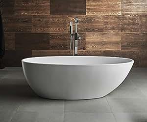 Vasca Da Bagno Con Piedi Prezzi : Vasca da bagno freestanding gemini amazon casa e cucina