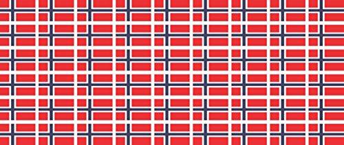 Mini Aufkleber Set - Pack glatt - 20x12mm - selbstklebender Sticker - Norwegen - Flagge / Banner / Standarte fürs Auto, Büro, zu Hause und die Schule - 54 Stück -