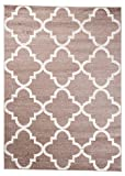Carpeto Teppich Modern Beige 120 x 250 cm Marokkanisches Muster Nordic Kollektion