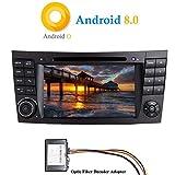 """XISEDO Android 8.0 Autoradio 7"""" 2 Din Voiture Radio RAM 4G ROM 32G Car Radio Système de Navigation GPS avec Lecteur de DVD pour Mercedes-Benz E-W211/E200/E220/E240/E280 (avec Décodeur Fibre Optique)"""