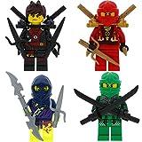 Ninjago Lego 4er Figurenset Ultimate 19 - Lloyd Kai rot schwarz, Ghost mit 11 GALAXYARMS Waffen Schwerter