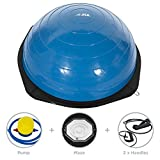 JLL® Balance Trainer with Maze - (modeled on the Bosu Balance Trainer), Heavy duty suitable for Home and Gym, air pump and resistance bands included. Dispatched on a 1st class delivery service. Available in Silver or Blue (Blue)