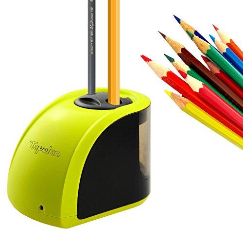 Tepoinn Elektrischer Anspitzer für Kinder Studenten Lehrer Ingenieure Designer, Kompakt Automatischer Anspitzer Stromversorgung über USB-Kabel oder Batterien, Hohe Geschwindigkeit und Einfach zu bedienen.