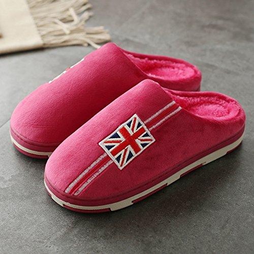 e con Il Autunno di donne pantofole di coperto soggiorno rosso4 al Paio uomini gli scarpe home colore è le grazioso pantofole vino antiscivolo spesso Inverno DogHaccd un cotone di eleganti 8ZHxI
