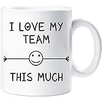 I Love My équipe This Much Tasse AMI collègue bureau employé Secret Santa Cadeau d'anniversaire Nouveauté Noël humour…
