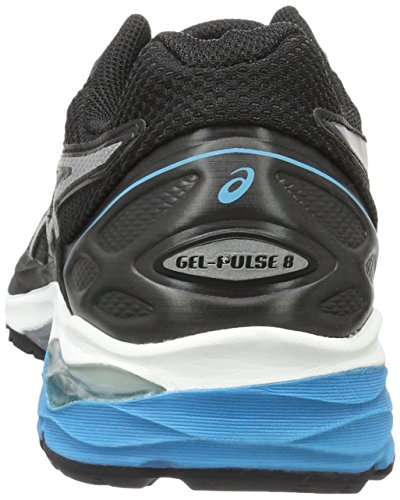 Asics Gel-Pulse 8, Scarpe da Corsa Uomo Nero (Black/Silver/Blue Jewel)