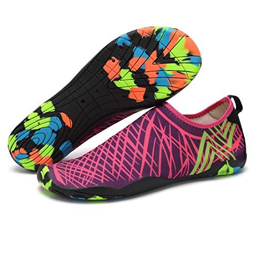 iClosam Schwimmschuhe Herren Damen Schnell Trocknend Slip On Breathable Aquaschuhe Surfschuhe für Herren Damen -