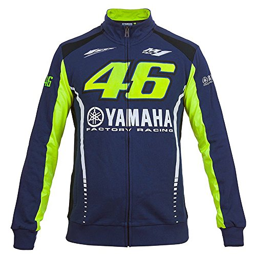 sweat-valentino-rossi-zipe-vr46-m1-yamaha-racing-team-moto-gp-officiel-racing-blue-homme-bleu-taille