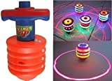 #9: Catterpillar Gyro Activated Laser Spinning Top with LED Light Multi Colored