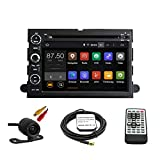 tltek Auto GPS-System für Ford Fusion/Explorer/Mustang/Ford F150/F250/F350/F450/Focus/Edge/Expedition 17,8cm HD 1024* 600muti-touch Display Quad-Core Android DVD Player + Backup Kamera + EU Karte