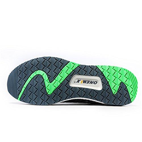 Onemix Laufschuhe 2017 Atmungsaktives Mesh-Schuhe Bequem Sneaker Herren Damen Unisex Schuhe Sommer Grau / Grün