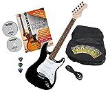 Rocktile Sphere Classic Électrique Guitare Black avec accessoires