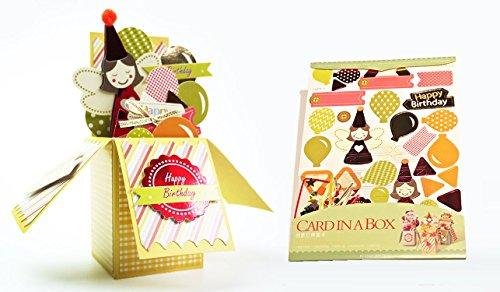 3Karten in 1Pack Amazing Geschenk Card in die Box für Grußkarte Geburtstag, Hochzeit, FOREVER LOVE, Valentine (Happy Birthday)