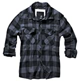 BRANDIT Check Shirt Black-Grey L