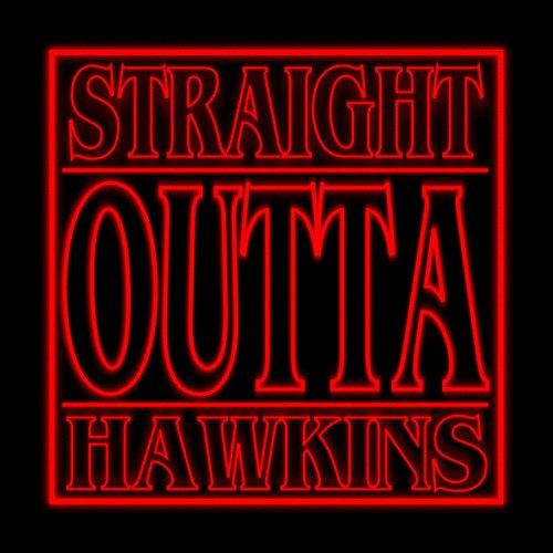 Straight Outta Hawkins Stranger Things Women's Hooded Sweatshirt Black