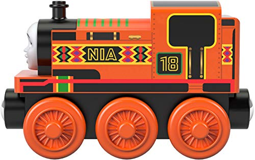 Thomas & Friends GGG31 Toy, Wooden Small Engine Nia, Multicoloured