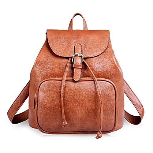 Brown Leather Rucksack: Amazon.co.uk