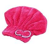 Cappuccio avvolgente per asciugatura rapida Cappello Cappuccio avvolgente per testa Vasca da bagno Soffione doccia super assorbente in morbido velluto per adulti Donna Forniture da bagno