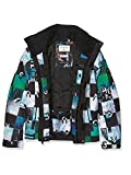 Quiksilver Mission Printed Youth – Chaqueta de nieve para niño, color Multicolor (Chakalapaki Bluefish/Andean), talla M