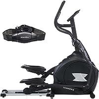 Preisvergleich für skandika Crosstrainer CardioCross Carbon Pro, 23,5 kg Schwungmasse, wartungsarmes Bremssytem über Magnettechnologie, Transportrollen, Kalorienverbrauch, Zeit und Pulsmessung …