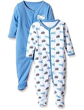 NAME IT Baby-Jungen Schlafstrampler Nitnightsuit Zip W/F Nb B Noos, 2er Pack