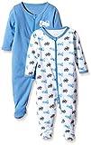 NAME IT Baby-Jungen Schlafstrampler NITNIGHTSUIT ZIP W/F NB B NOOS, 2er Pack, Gr. 74, Mehrfarbig (Regatta)