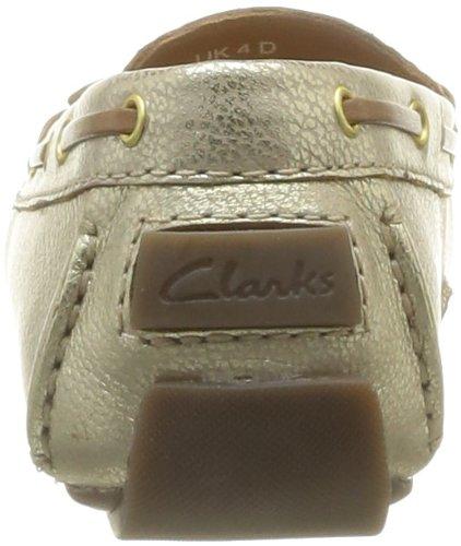Clarks Dunbar Racer, Ballerines femme Ivoire (Metallic Leather)