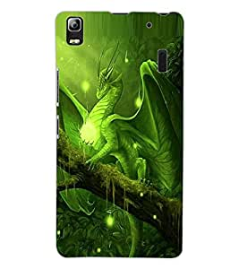 ColourCraft Dragon Design Back Case Cover for LENOVO A7000