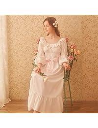 WXNLEAI RoseTree Princess camisón de algodón de manga larga de las mujeres Sexy Corte Sexy pijamas