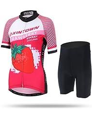 Free Fisher Verano de las señoras Ciclo de la bicicleta de la manga corta con cremallera traje Jersey