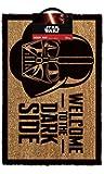 1art1 99289 Star Wars - Darth Vader, Willkommen Auf Der Dunklen Seite Fußmatte Türmatte 60 x 40 cm