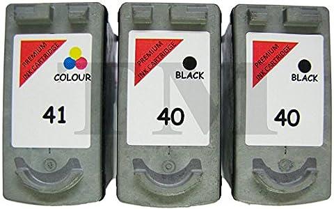 2x PG-40& 1x CL-41Noir et couleur Lot de 3cartouches d