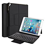 iPad Pro 9.7Housse clavier, Miya Luxe Cuir PU Smart support ultra mince magnétique amovible clavier Bluetooth sans fil Coque de protection pour Apple iPad Pro 9.7/2017new iPad/iPad Air/iPad Air 2