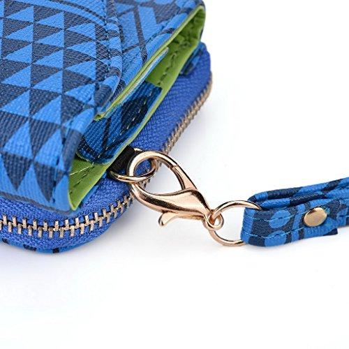 Kroo Pochette/étui style tribal urbain pour Sony Xperia Z1Compact bleu marine bleu marine